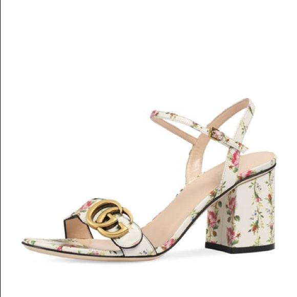 11d39511dfd2 Gucci Shoes - Gucci floral sandals